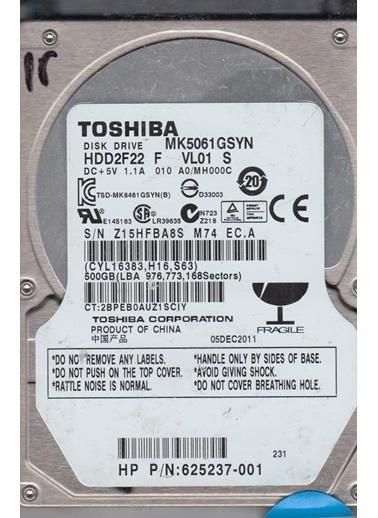"""Toshiba Mk5061Gsyn 2.5"""" 500 Gb 7200 Rpm Sata 3 Hdd Renkli"""